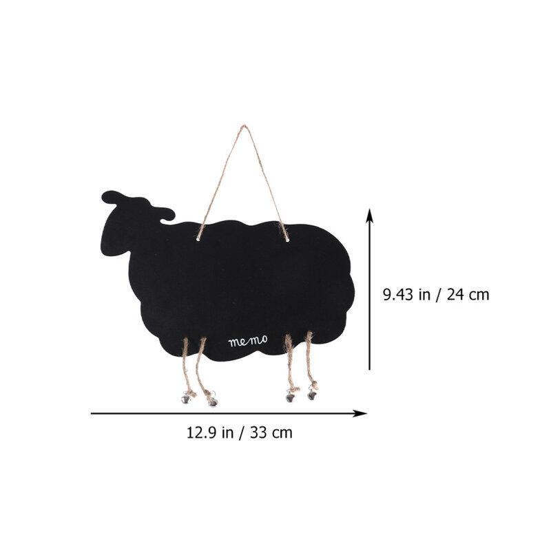 2 قطعة سبورة خسبية سوداء جميلة معلقة السبورة مزدوجة من جانب الأغنام