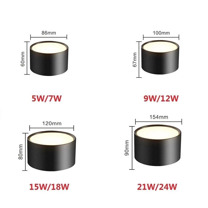 عكس الضوء سطح شنت النازل 7 واط 9 واط 12 واط 15 واط 18 واط 5730SMD LED السقف مصابيح كشاف صغيرة الحجم AC85-265V LED مصباح السقف إضاءة داخلية