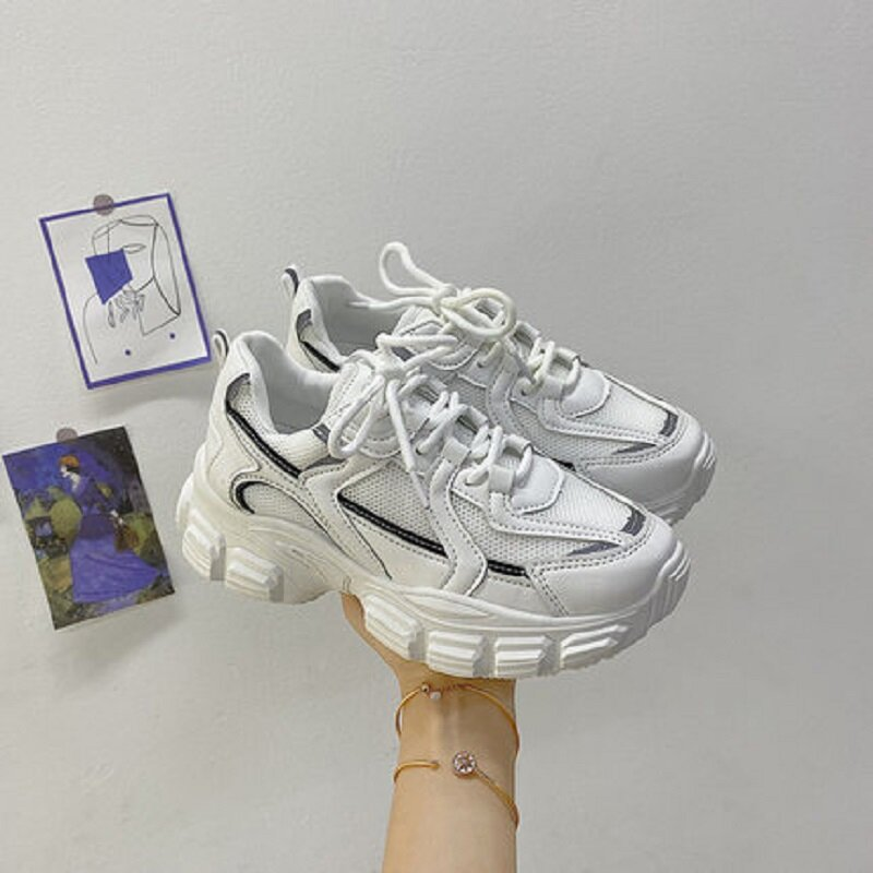 2021 خريف جديد بابا أحذية حذاء أبيض صافي البرية الأحمر سميكة سوليد أحذية رياضية كاجوال