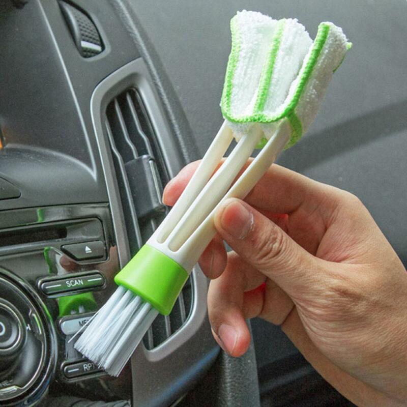 السيارات تكييف الهواء منفذ تنظيف فرشاة لوحة القيادة تنظيف لوحة المفاتيح أعمى الداخلية فرشاة الغبار فرشاة اكسسوارات السيارات Cle X1F0