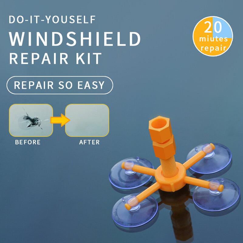 طقم إصلاح الزجاج الأمامي للسيارة ، مانع التسرب بالراتنج ، افعل ذلك بنفسك ، سريع ، تلميع ، زجاج السيارات