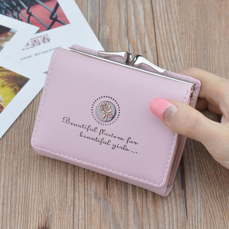 العلامة التجارية مصمم محافظ صغيرة النساء الجلود الهاتف محافظ الإناث قصيرة سستة محفظة للعملة المال حاملي بطاقات الائتمان حقائب يد