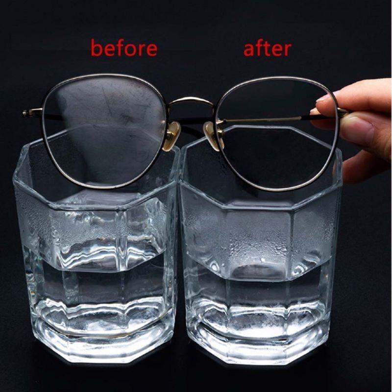 12 قطعة قابلة لإعادة الاستخدام مكافحة الضباب مناديل نظارات قبل مبلل مكافحة الضباب عدسة القماش ديفوغر نظارات مسح منع الضباب للنظارات ^_^