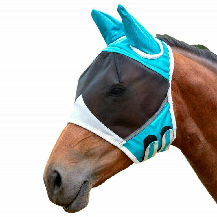 موضة الصلبة الحيوانات الأليفة الحصان يطير أقنعة عيون الصيف الغطاء الواقي تنفس شبكة غرامة