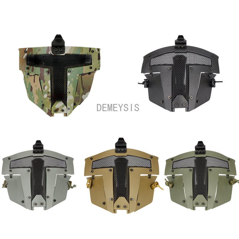 قناع تكتيكي كامل للوجه للصيد من Airsoft ملحقات لعبة قتالية Cs تحتاج إلى استخدام مع خوذة سريعة بنسيج شبكي يسمح بالتهوية أقنعة عسكرية
