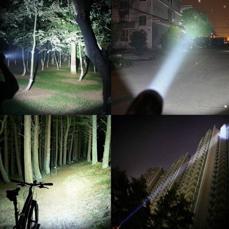 مصباح يدوي LED عسكري تكتيكي محمول T6 ، 980000LM ، زوومابلي ، 5 أوضاع ، بدون بطارية ، أدوات خارجية