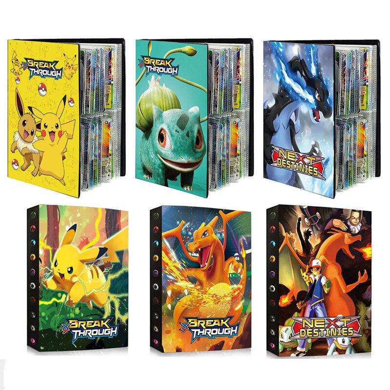 أحدث 240 قطعة الأحرف بطاقة جمع دفتر بطاقة الألعاب ألبوم اللعب Pokemones بطاقات حامل الجدة هدية للأطفال