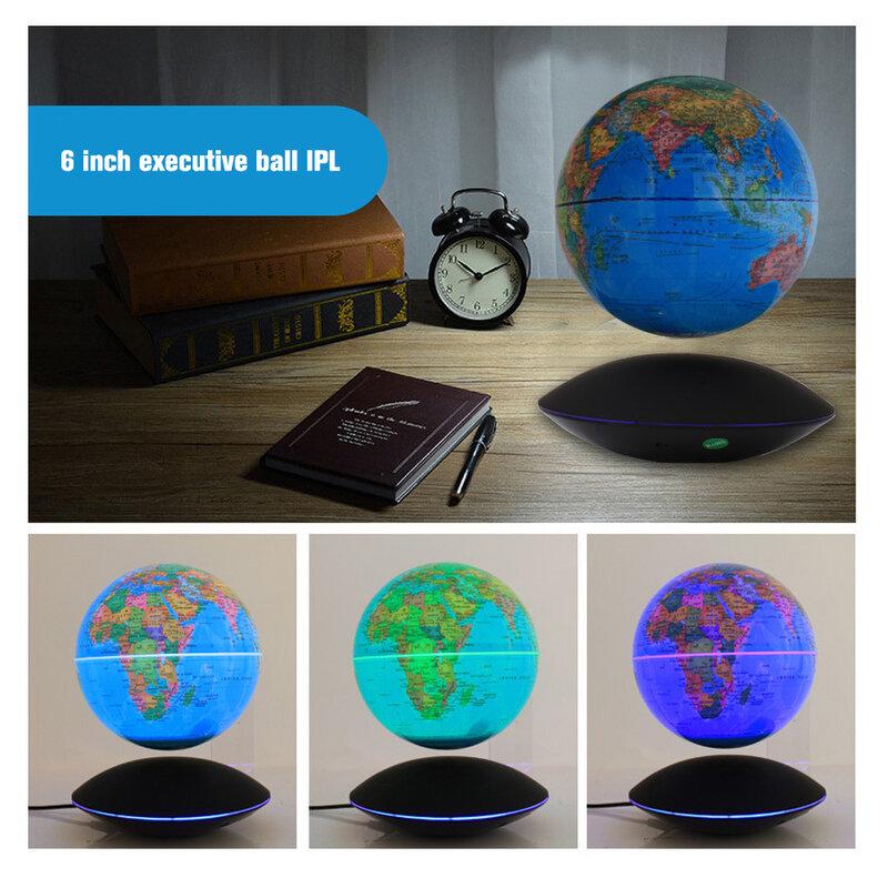 6 بوصة المغناطيسي الإرتفاع القمر ضوء غلوب ضوء المنزل ثلاثية الأبعاد دوران مضيئة الحرف اليدوية مكتب الديكور الأطفال هدية