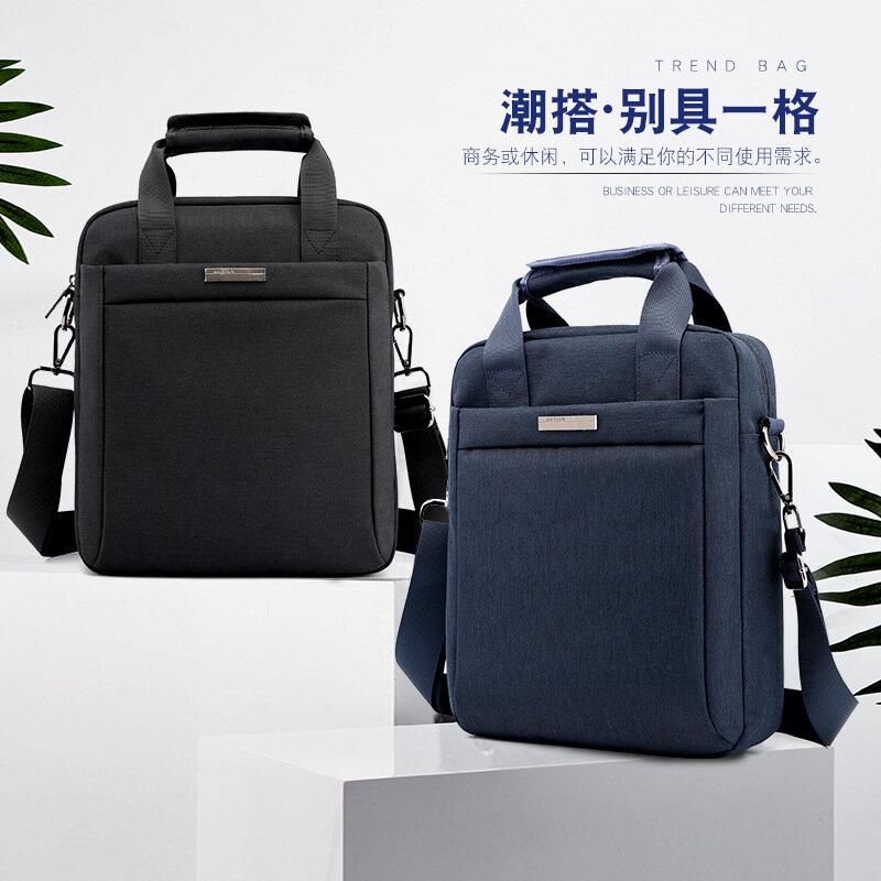 جديد عمودي الرجال حقيبة كتف حقيبة حاسوب عادية مقاوم للماء و يصعب ارتداء الأعمال حقيبة ساعي حقيبة ساعي الرجال