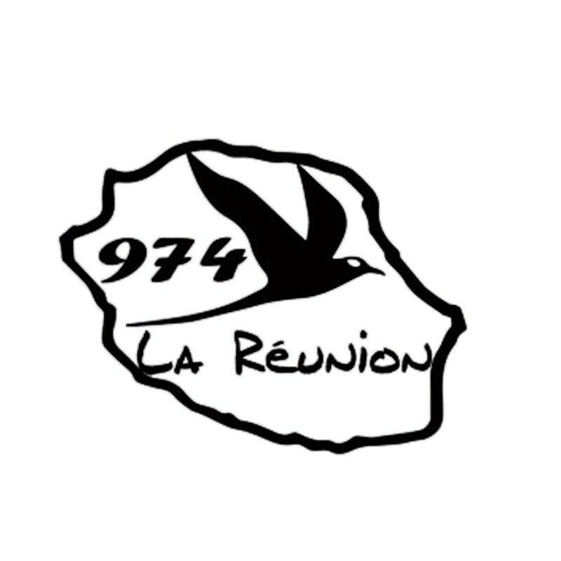 OFK ل 974 جزيرة اجتماع القش خريطة الذيل سيارة ملصق مضحك اكسسوارات السيارات الفن الوشم ملصق ملصق فينيل