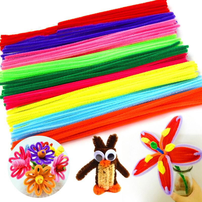 جديد 100 قطعة/الوحدة متعددة اللون الشنيل العصي منظفات اليدوية Diy الفن والحرف الحرفية المواد الاطفال الإبداع الحرف اليدوية لعب