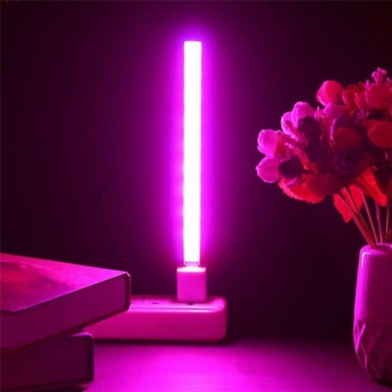 5 فولت 2.5 واط LED النبات تزايد المصباح الكهربي 21 المصابيح USB المحمولة LED تنمو أضواء شاشة ليد بطيف كامل ضوء نمو النبات للنباتات العصارية