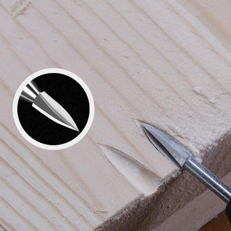 5 قطعة/المجموعة الخشب نحت الحفر مبراة 3-8 مللي متر قاطعة المطحنة الحفر المرفقات مجموعة لقمة مثقاب طحن طاحونة لدغ نحت الخشب