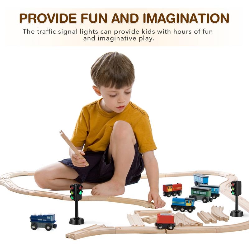 Nubey sty 3 قطعة نموذج ضوء المرور اللعب إشارات المرور مصباح اللعب أضواء المرور الاطفال التعليم المبكر بلاي