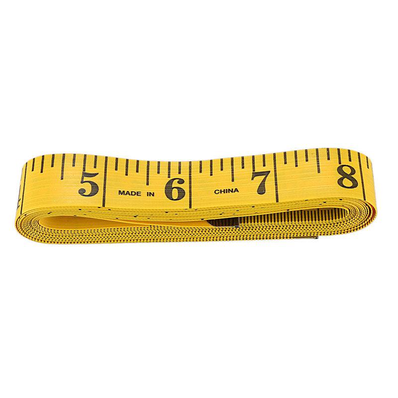 شريط قياس مسطرة 300 سنتيمتر مرن ومصنوع حسب الطلب أصفر