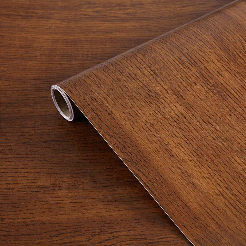 الخشب الحبوب للإزالة خلفية الفينيل ذاتية اللصق الجدار ملصق تجديد ورق اتصال لباب خزانة سطح المكتب غرفة المعيشة