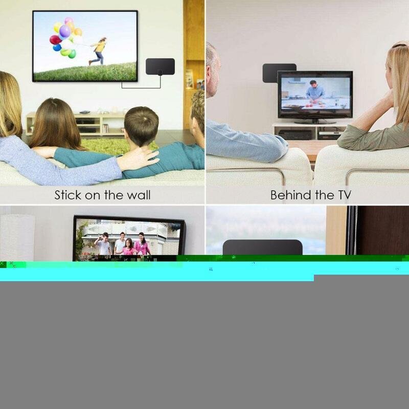 هوائيات تلفاز 980 ميل عالية الدقة هوائيات تلفاز داخلية مزودة بمضخم إشارة معززة دائرة نصف قطرها للتلفاز هوائيات تلفزيون عالية الدقة