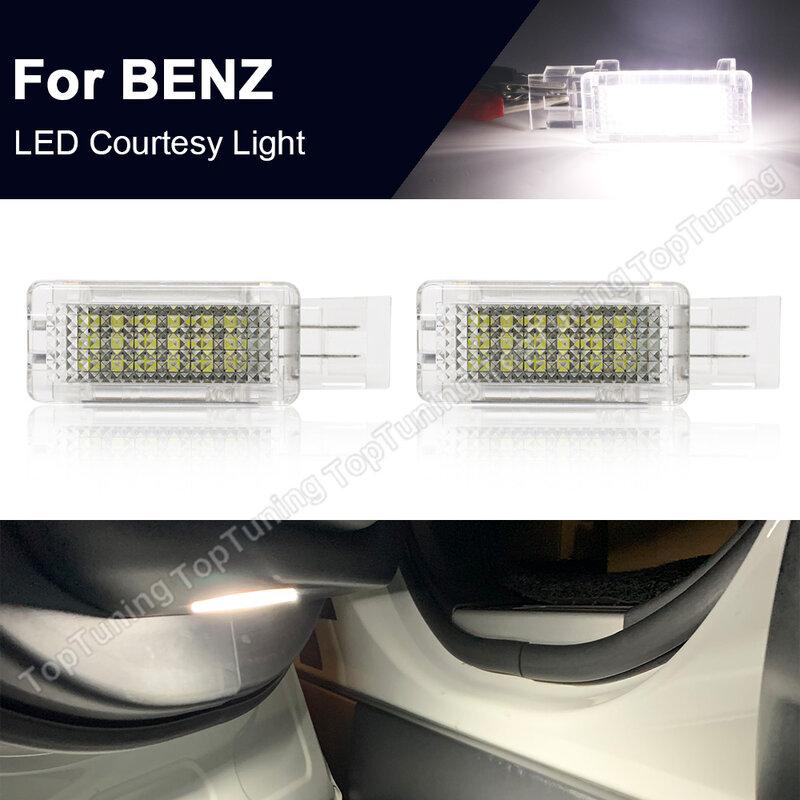 2 قطعة LED ضوء لافت للانتباه الباب مصباح لمرسيدس بنز R171 R199 W203 W209 مايباخ W240 فيانو W639 W176 W246 C117 X156