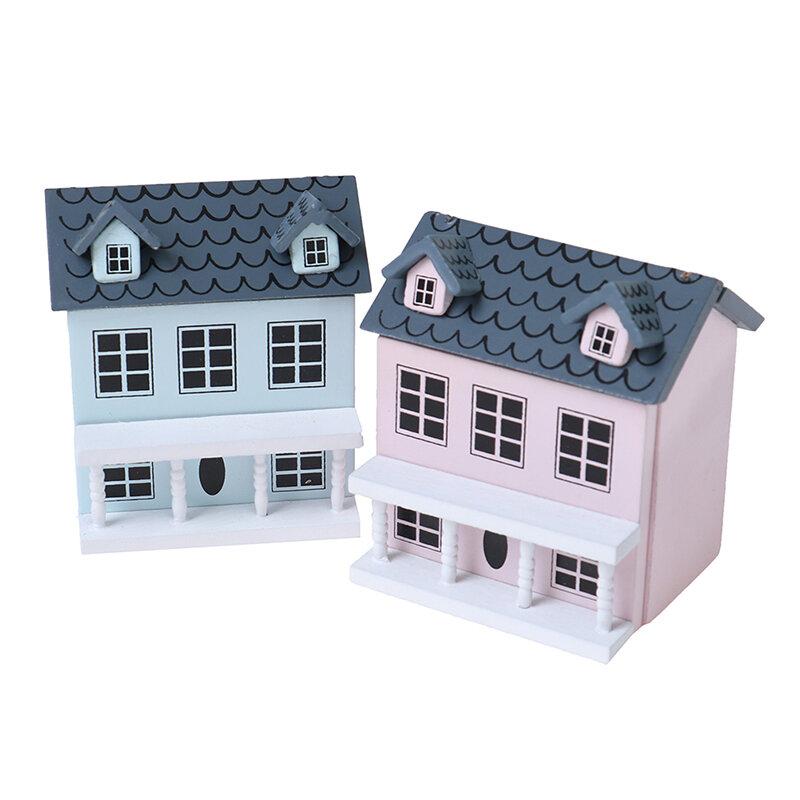 بيت دمية خشبي مصغر 1:12 ، نموذج منزل صغير ، ديكور منزل فيلا جميل