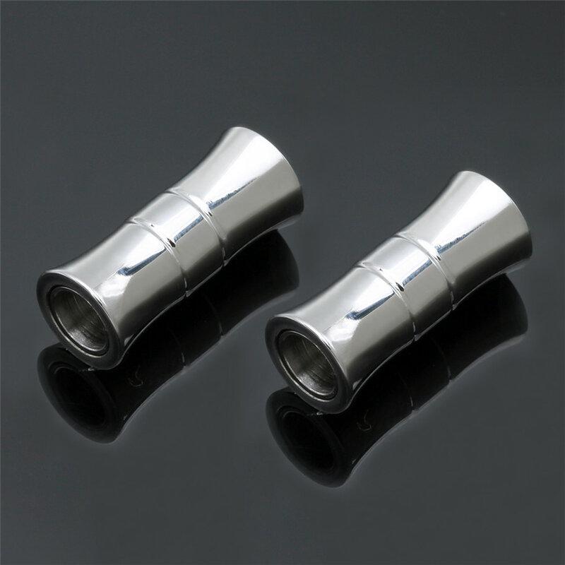 Ciseng 2 قطعة/الوحدة الفضة لهجة المشابك المغناطيسية قوية Connectors بها بنفسك موصلات النتائج مجوهرات صالح 5 مللي متر الجولة الجلود الحبل سوار صنع