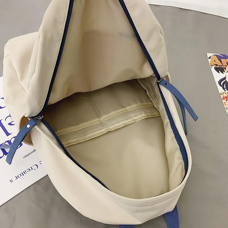 2021 جديد حقائب مقاومة للماء للنساء الفتيات ضوء ببساطة Preppy اليابان نمط الصلبة على ظهره مكافحة سرقة السفر حقيبة كتب الكمبيوتر المحمول