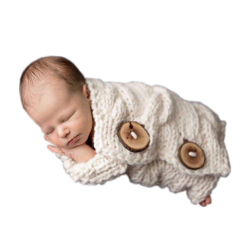 الوليد التصوير الدعامة الكروشيه متماسكة كيس النوم لينة القطن الطفل كيس النوم صور اطلاق النار Posing وسادة حصيرة بطانية