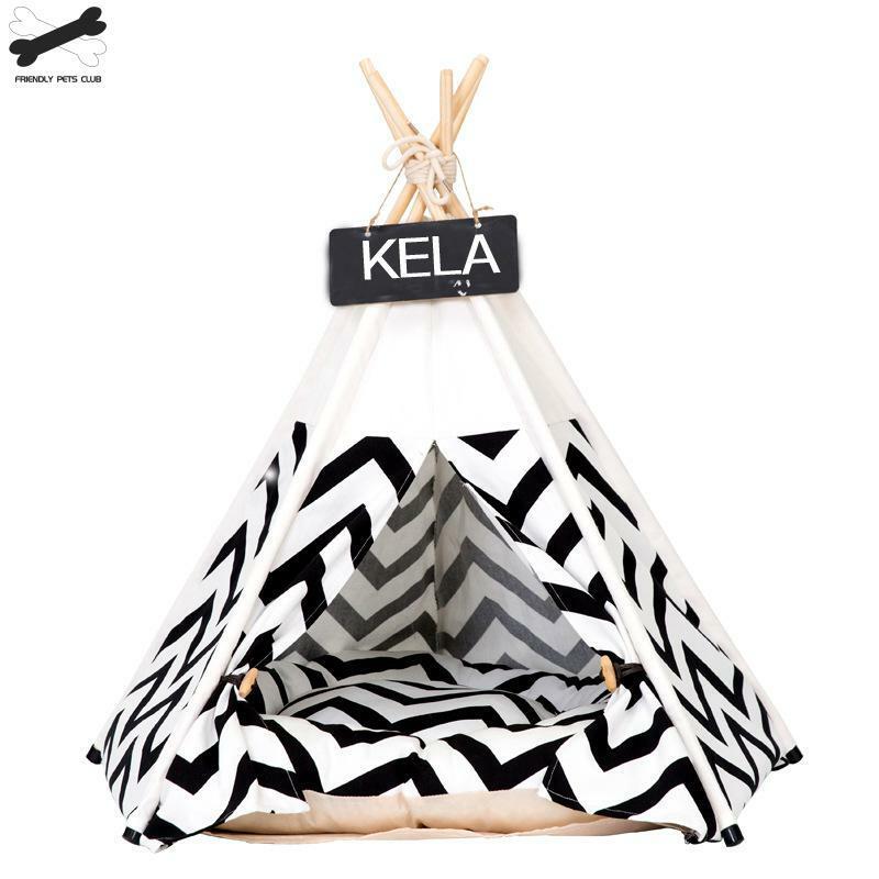 الحيوانات الأليفة خيمة منزلية سرير للقطط المحمولة تيبي مع وسادة سميكة و 6 ألوان المتاحة للكلاب جرو رحلة في الهواء الطلق في الأماكن المغلقة