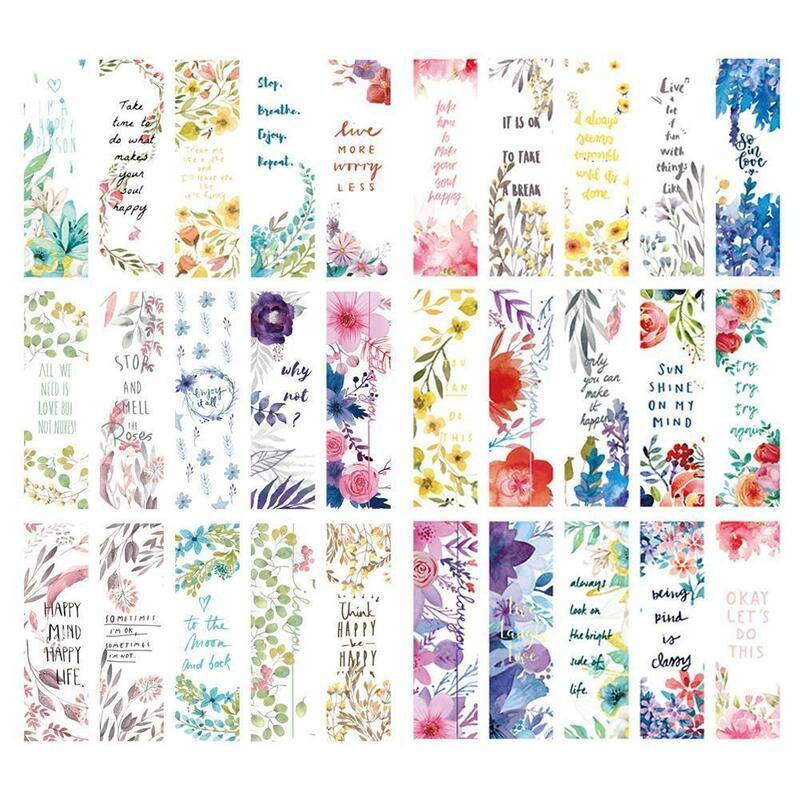 30 قطعة/المجموعة جميلة الزهور العناوين كتاب فصل المدرسة العناوين الصفحة المرجعية الطازجة صغيرة إمدادات مكتب الأدبية T0H7