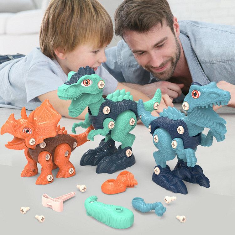 تجميعها لعبة على شكل ديناصور مزيج الأطفال عالية بنة لغز لعبة أطفال بنين ألعاب تعليمية