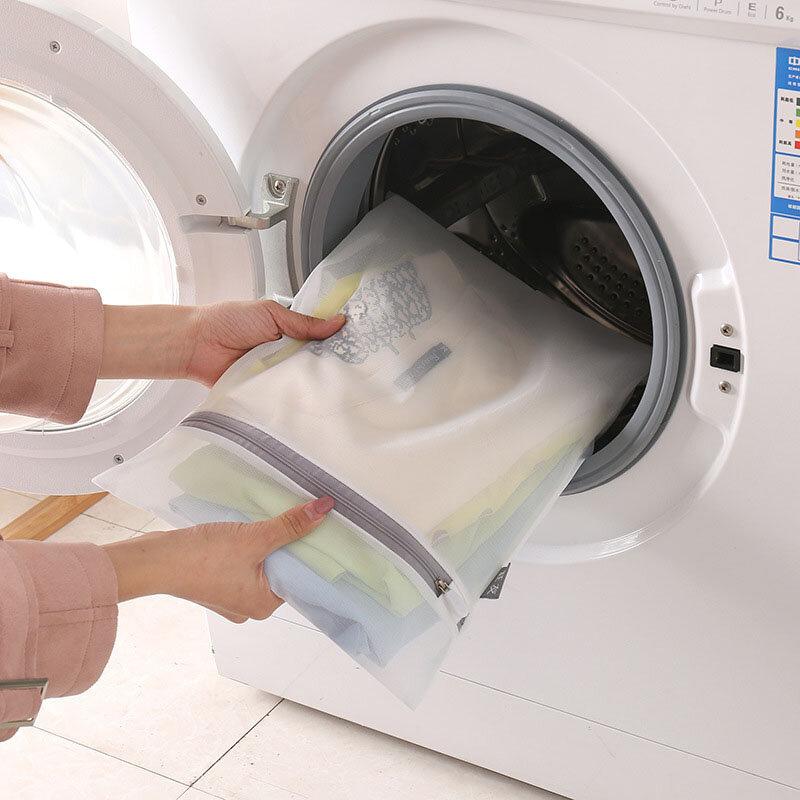أكياس غسيل شبكية رمادية بسحاب ، حقيبة غسيل منزلية ، ملابس داخلية ، حمالة صدر ، جوارب ، منظم غسيل يعوق الملابس القذرة