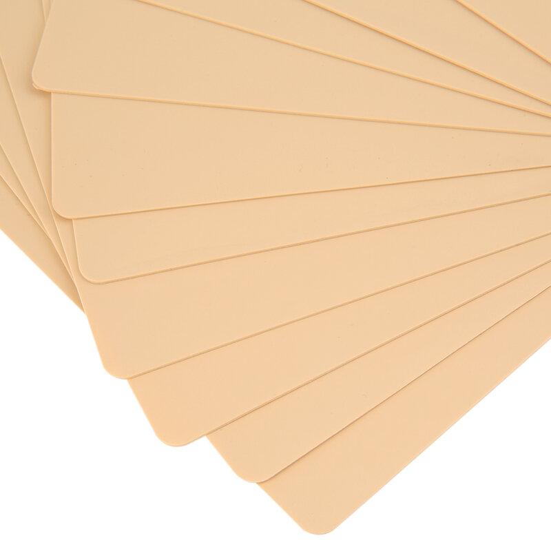 جديد 10 قطعة جودة عالية تجميل دائم الحاجب الشفاه 20x15 سنتيمتر فارغة الوشم الممارسة الجلد ورقة ل آلة لإزالة التجاعيد باستخدام الإبر توريد عدة