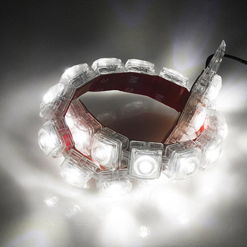 2 قطعة LED قطاع أضواء 10LED 12 فولت DRL 6000 كيلو الأبيض النهار تشغيل ضوء الضباب أضواء الفرامل IP67 مقاوم للماء مع لاصق دروبشيبينغ