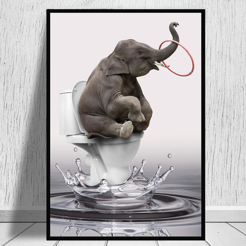 أزهار لطيفة الكلب ضربة فقاعات قماش يطبع ديكور المنزل المشارك اللوحة على جدار الفن مضحك الحيوان صور لغرفة المعيشة