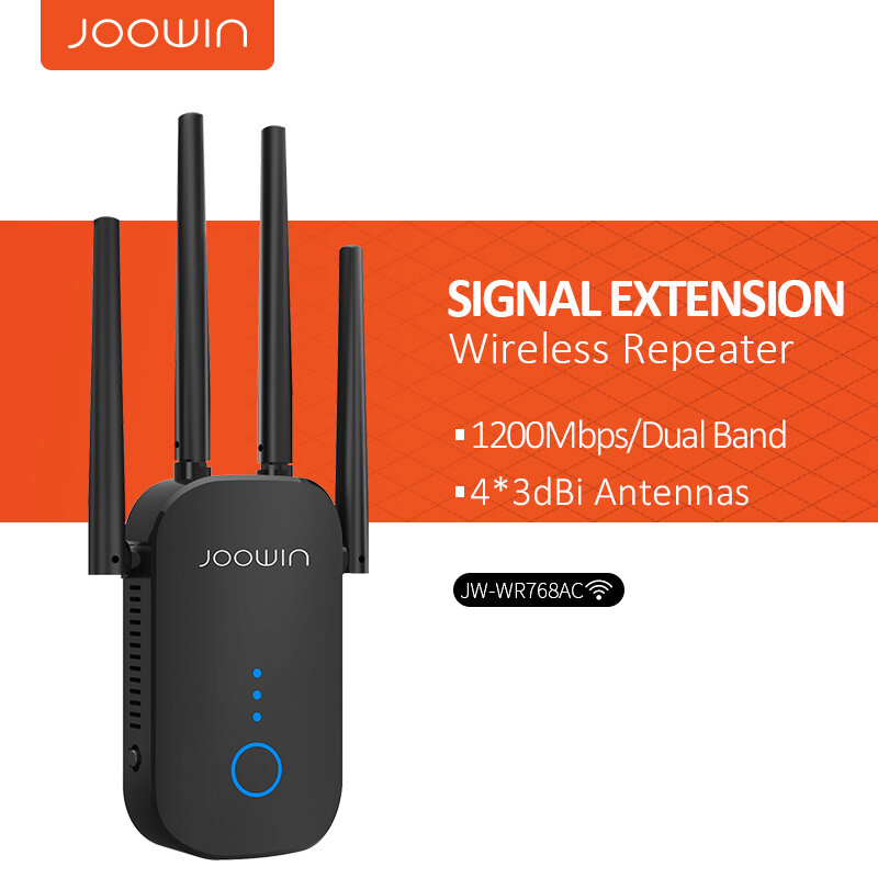 Joowin-مكرر واي فاي لاسلكي طويل المدى ، 1200 ميجابت في الثانية ، نطاق مزدوج 2.4 و 5.8 جيجاهرتز ، هوائي 4 × 3 ديسيبل ، مضخم إشارة