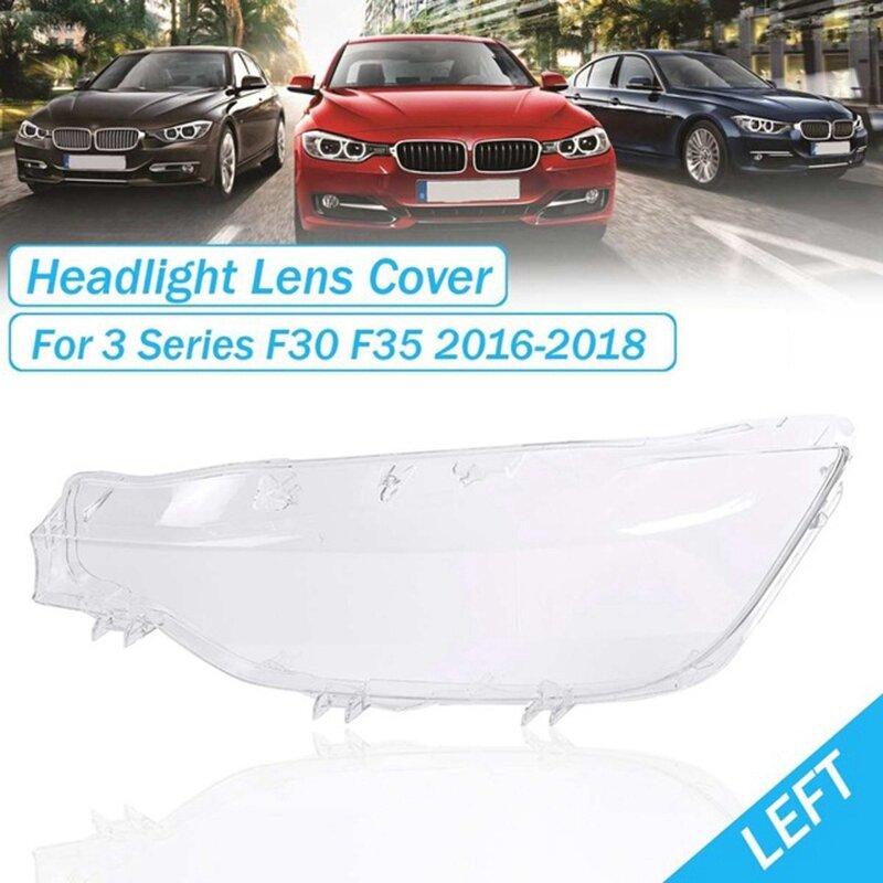 اليسار الجبهة المصابيح الأمامية شفافة أباجورة المصابيح الأمامية غطاء عدسة قذيفة ل-BMW 3 سلسلة F30 F35 2016-2018 63117419629