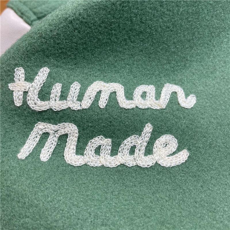الأخضر المرقعة الإنسان صنع الفتيات لا تبكي سترة إسكواش بيسبول الرجال النساء النمر نمط الجلود كم معطف