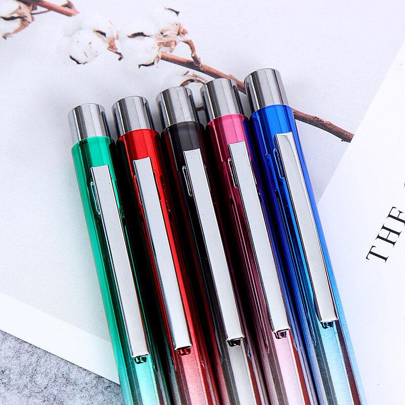 0.5 مللي متر قلم حبر جاف معدني قلم هدية القلم مكتب هدايا عيد ميلاد أقلام حبر جاف محفورة اسم خاص ليزر شعار مخصص هدية صندوق القلم