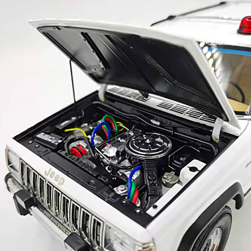 1:18 جيب شيروكي جيب أورورا الصغيرة شيروكي نموذج سيارة إرسال مصباح إضاءة بسيارة الشرطة المغناطيسي