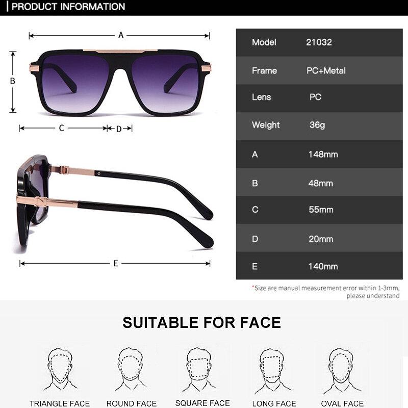 مربع النظارات الشمسية موضة الرياضة للرجال والنساء الاتجاه نظارات شمسية