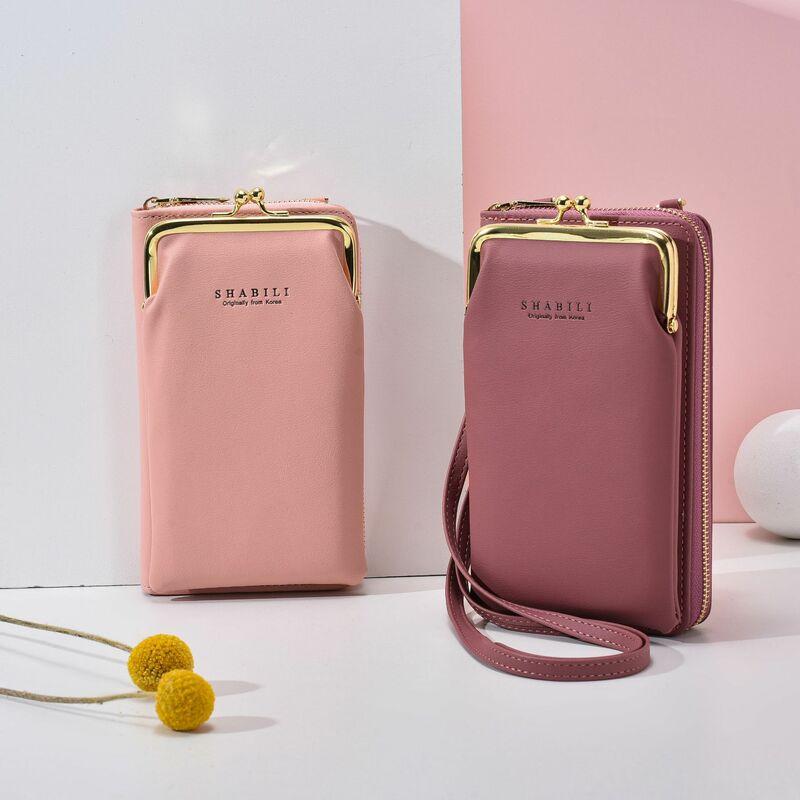 المرأة حقيبة صغيرة جلد طويل بطاقة محفظة حقيبة كتف سعة كبيرة المرأة المحفظة الصلبة متعددة الوظائف المحافظ وحقائب اليد