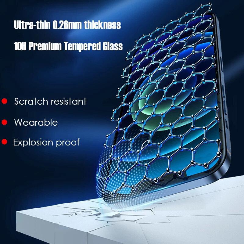 666D غطاء كامل من الزجاج على آيفون 12 11 برو ماكس X XS ماكس XR حامي الشاشة آيفون 7 8 Plus SE 2020 الزجاج المقسى