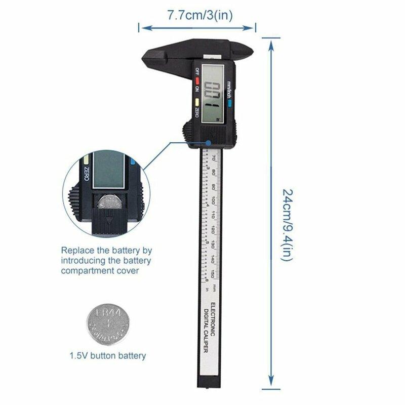 فرجار ورنير بشاشة رقمية إلكترونية ، أداة قياس ، قطر داخلي ، بلاستيك ، 0-2020 مللي متر ، 150