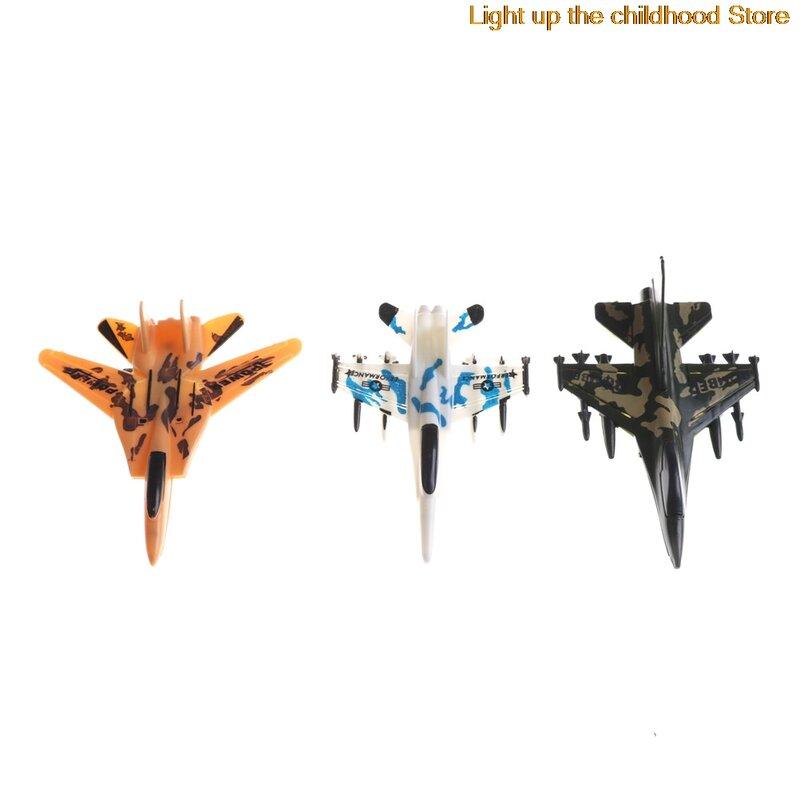 1 قطعة نماذج طائرة صغيرة اللعب الطائرة العسكرية التراجع لعبة الأطفال التعليم لعبة قوة مقاتلة لعب الطائرات عشوائي