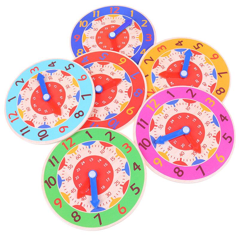 ساعة مونتيسوري الخشبية الملونة للأطفال ، لعبة ساعة الإدراك ، ساعة بالدقيقة والثانية ، أدوات تعليمية لمرحلة ما قبل المدرسة