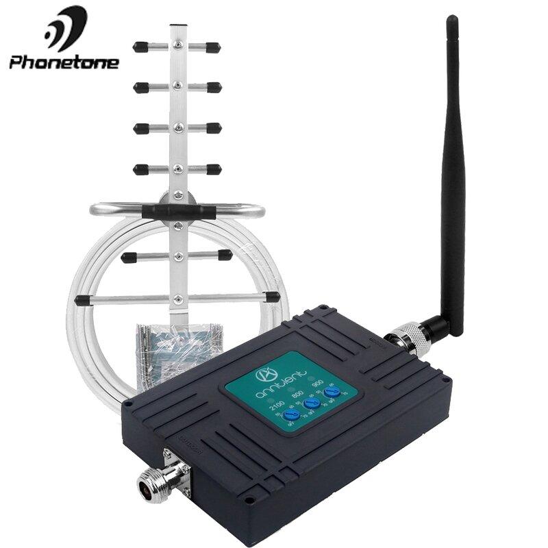 مكرر GSM قوي 800 ، 900 ، 2100 ميجاهرتز ، GSM ، 3G ، UMTS ، 900 ميجاهرتز ، ثلاثي الموجات ، 4G ، LTE ، مكبر صوت صغير للهاتف ، ترقية