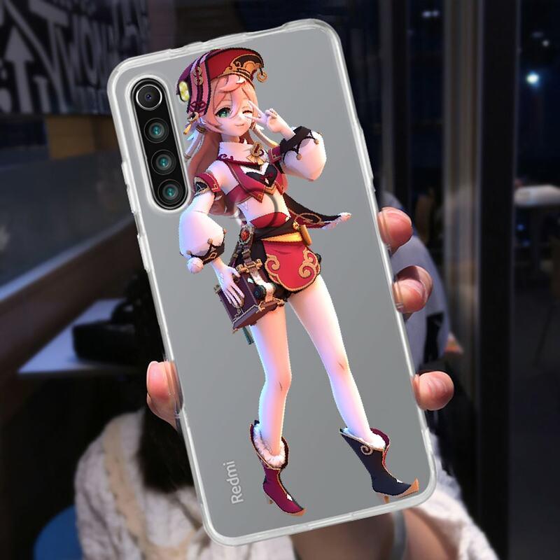 غلاف هاتف من جينشين إمباكت كازوها شفاف لهاتف شاومي ريدمي نوت 7 7A 8 8T 9 9A 9S 10 K30 Pro غطاء فاخر فائق الشفافية