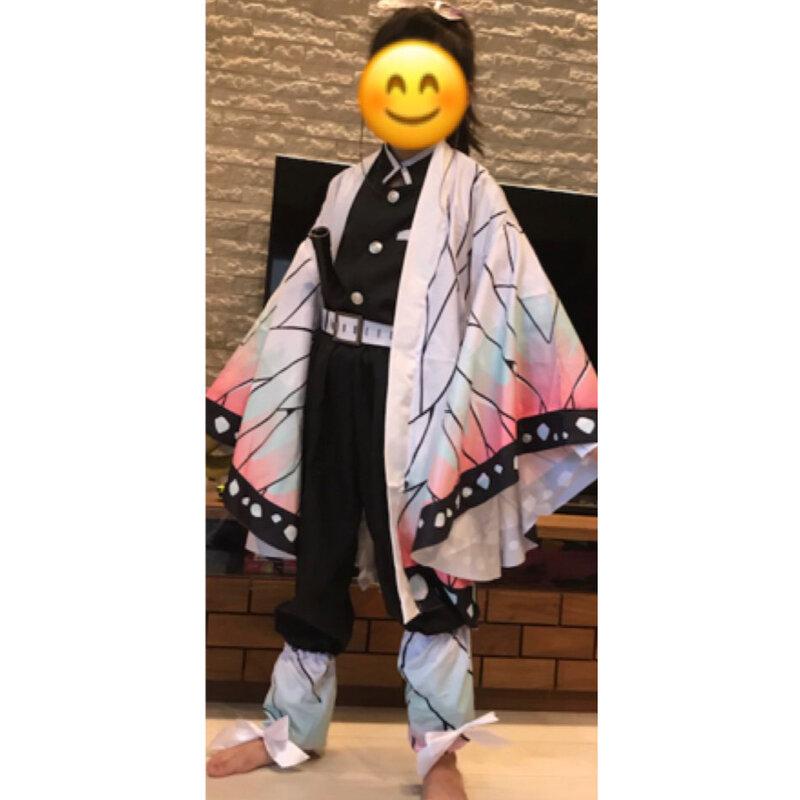 الأطفال الكبار أنيمي شيطان قاتل تأثيري المرأة كيمونو شعر مستعار الملابس