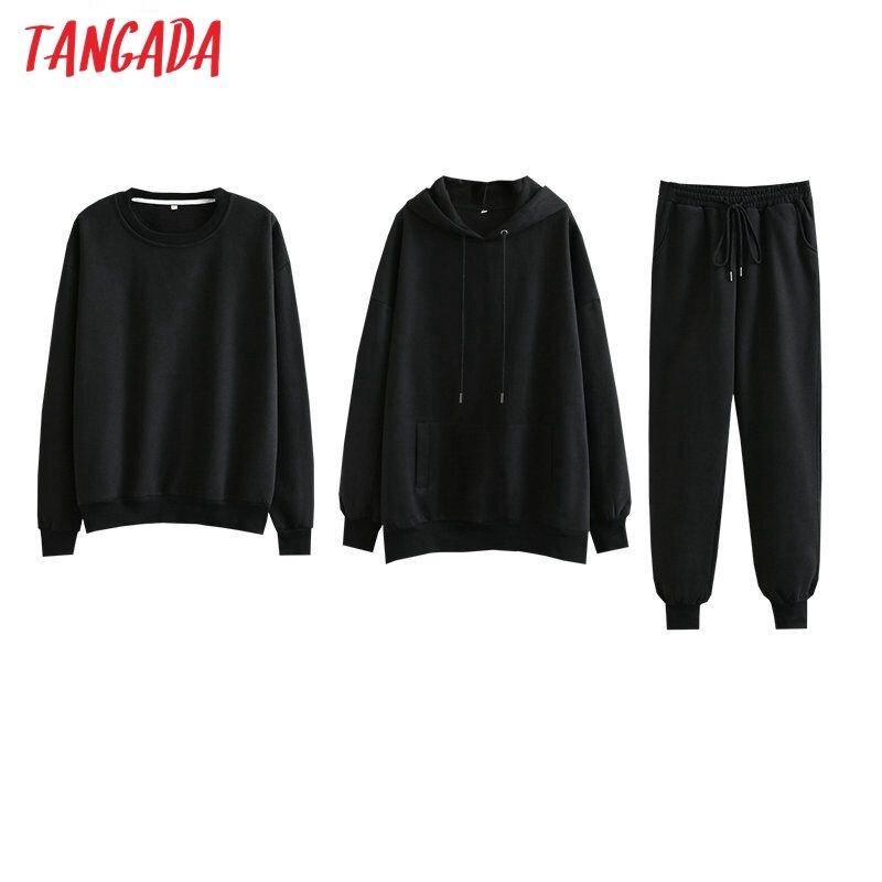 Tangada-سويت شيرت نسائي من الصوف ، ملابس كبيرة الحجم ، 100% قطن ، amygreen ، SD60