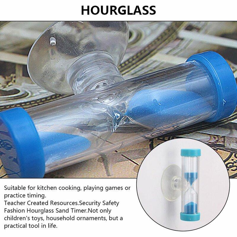 ساعة رملية صغيرة للأطفال ، مؤقت فرشاة أسنان مع كوب شفط ، خالية من الرصاص ، هدايا إبداعية صغيرة ، ديكور منزلي ، 2/3 دقيقة