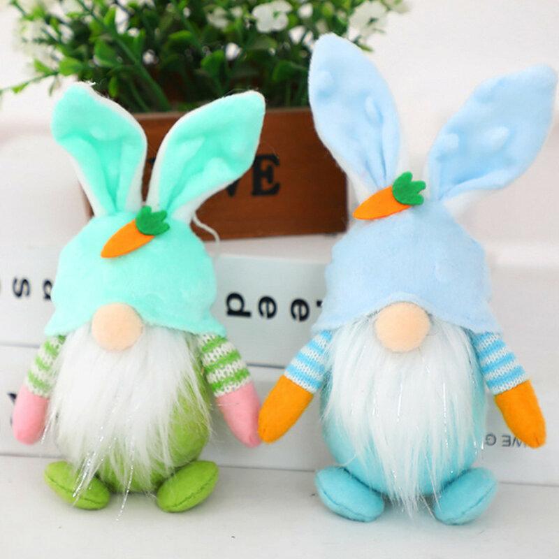 دمية قطيفة على شكل أرنب ، دمية قزم ، زينة عيد الفصح بدون وجه ، للأطفال والكبار ، مستلزمات الأثاث ، 4 ألوان